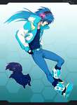 DmmD: Aoba and dog by Denimecho