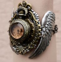 Winged watch cuff II by Pinkabsinthe