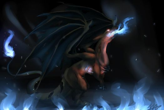 Undead Charizard by MadsMadnessRage