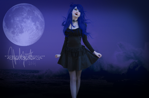 By The Goddess of the Moon by artofmelancholy