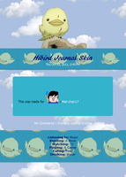 Hibird Journal Skin by OndineNova
