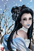 Goddess of Winter by TyrineCarver