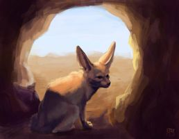Fennec fox by LynxMB