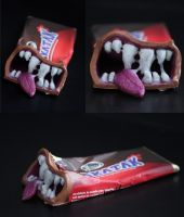 Anthropomorphic Snakatak Candy Bar Sculpt by spulunk