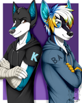 Commission: Bros by Blitzy-Arts