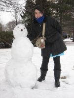 me and my snowman by flameinheaven
