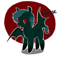 Bat pony Adopt: Curse by JellyBeanBullet