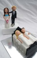 Wedding Figurines Soccer  Bed by Verusca