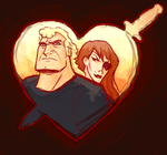 Brock and Molotov by oneredfan