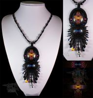 Bead Embroidery Fractal Necklace II by annafjellborg