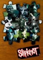 slipknot masks puzzle by FalloutLuver13