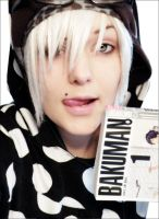 Sam goes white with Bakuman by SamCambioContinuo