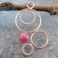Circles Galore Rhodocrosite by DeMoyJewelryDesigns