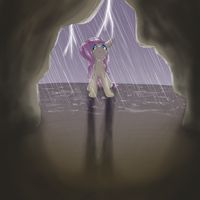 .: Fluttershy Finds a Cave :. by EbonyTails