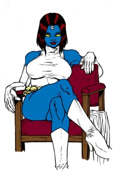 Mystique Commission Line Work By Dogsupreme by Kenkira
