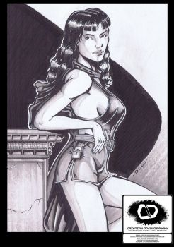 40s Phantom Lady Sketch by Docolomansky