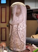 Owl Rough Out Carving by RiverOtterWidget