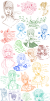 this isnt even half of my ocs by TVPrince