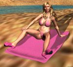 Rachel at theBeach by Euel
