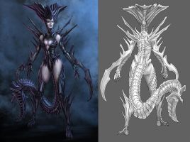 Official Smite Dread Queen Concept by PTimm