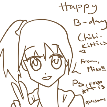 Happy Birthday ChibiKitties by Misuki-luvs-you