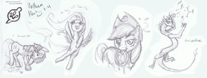 Balloon Party Roughs by karidyas