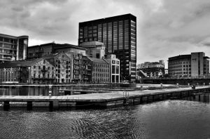Dublin's Grand Canal Dock by guselektrisch