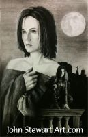 Underworld charcoal portrait by johnstewartart
