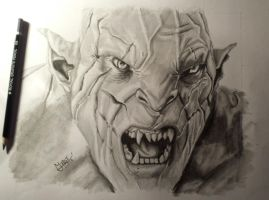 Azog in pencil. by MattTrist