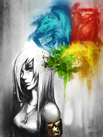Gray World, Colorful Mind by Tato-Sama