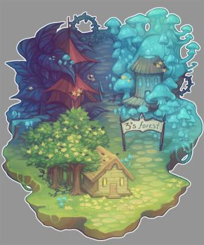 3's Forest Map by ficklegoddess