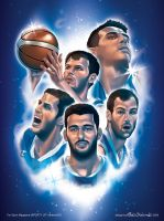 National Greek Basketball Team by Elias-Chatzoudis