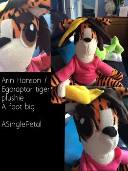 Commission - Tiger Arin plushie by ASinglePetal