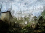 A Medieval Town by Narandel