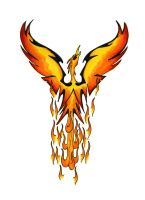 tribal flame pheonix tattoo by Classic-Art-by-JP
