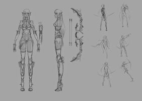 Elf Archer Concept by Chartreuse-Gale