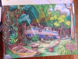 Jungle Boat by Pikamine