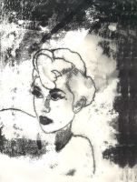 Vaudeville Monoprint by plastik-star