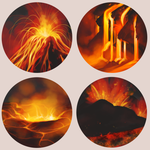 Volcano Buttons by ClefdeSoll