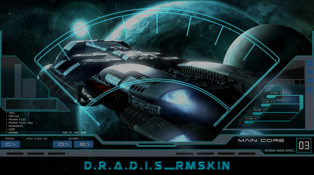 D.R.A.D.I.S rainmeter preview by Clipsy-Moon
