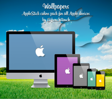 Colors Pack Apple Stick wallpapers by frenchitouch