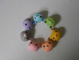 colourful polymer clay charms by dsam4