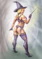 bodybuilder witch commission by Dominicabra