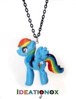 Rainbow Dash Necklace by Ideationox