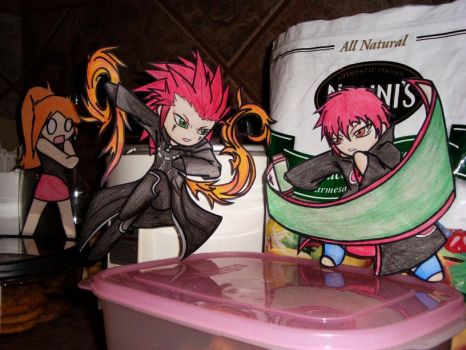 Axel, Sasori, and Milly by Frmla1Rcer