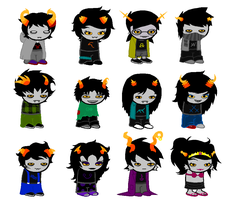 All Fantrolls sprite sheet by TouchMyLexicon66