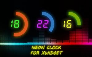 Neon Clock for XWidget by boyzonet