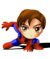 Spiderman Chibi by ExoroDesigns