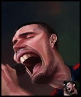Caricature for a singer by creaturedesign