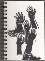 04 22 2012 Daily Draw Hands April Doodle Challenge by LineDetail